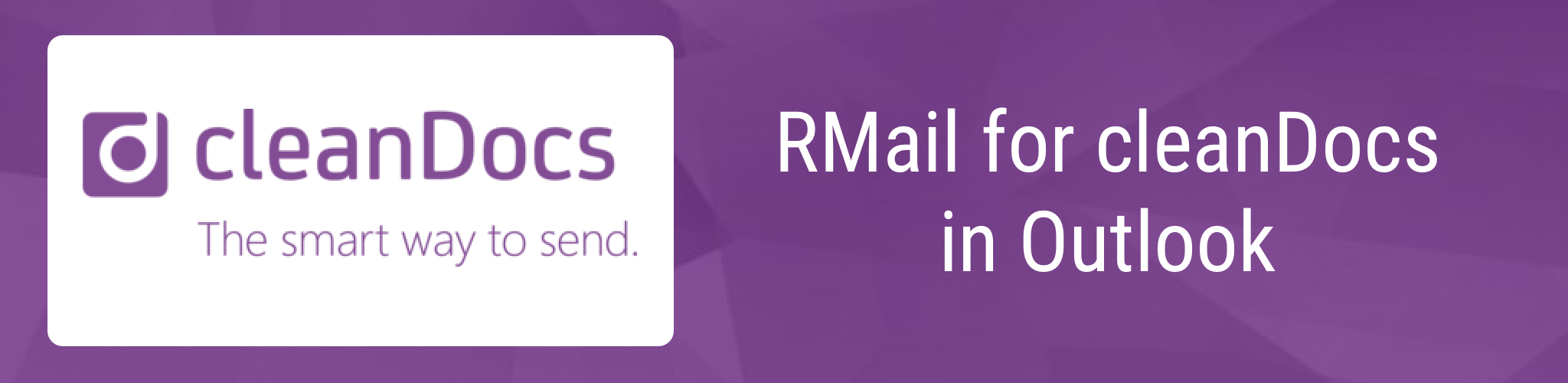 RMail for cleanDocs in Outlook