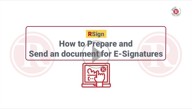 How to Prepare & Send Documents for Electronic Signature
