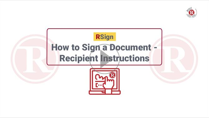 How to Electronically Sign a PDF Document