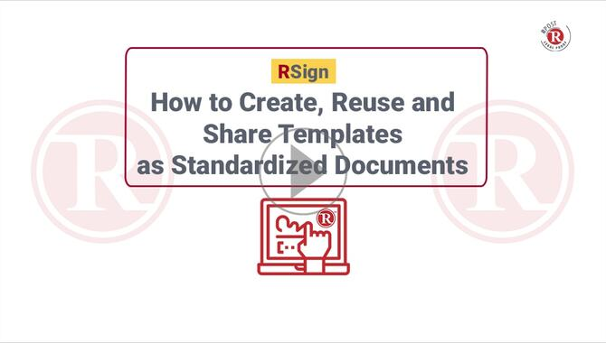 How to Create, Reuse & Share Templates as Standard Documents