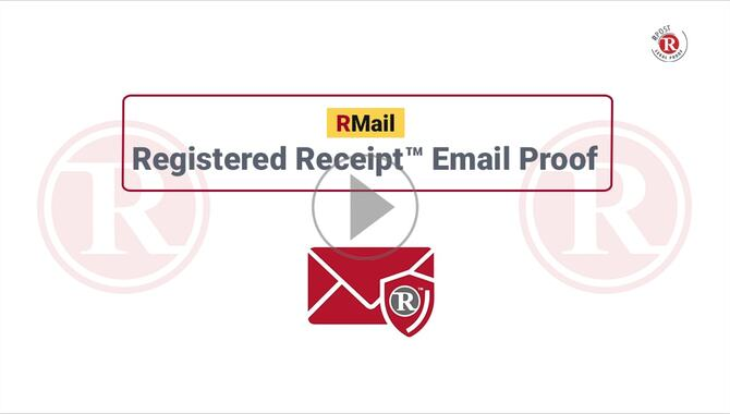How to Get Registered Receipt™ Email Proof of Delivery Record